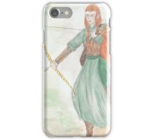 Watercolour Tauriel sketch - The Hobbit iPhone Case/Skin