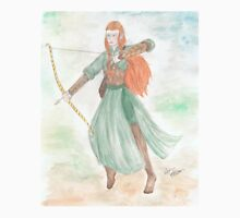 Watercolour Tauriel sketch - The Hobbit Unisex T-Shirt