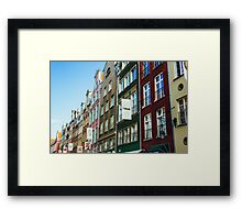 Buildings In Gdansk Framed Print