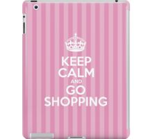 Keep Calm and Go Shopping - Pink Stripes iPad Case/Skin