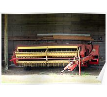 Old Farm Machinery  Poster