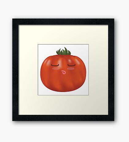 Blushing Heirloom Tomato Framed Print