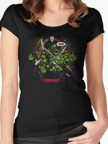JASON TAKES THE TURTLES Women's Fitted Scoop T-Shirt