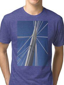 Abstract Bridge Lines, Winnipeg, Manitoba, Canada  Tri-blend T-Shirt