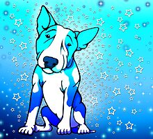 Midnight Starry Bull Terrier by Sookiesooker
