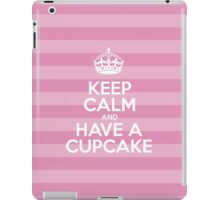 Keep Calm and Have a Cupcake - Pink Stripes iPad Case/Skin