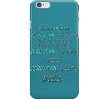 Cerulean Blue iPhone Case/Skin