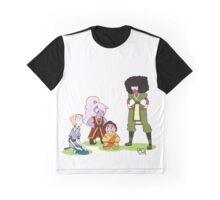 Steven Universe x Avatar: The Last Airbender Crossover Graphic T-Shirt