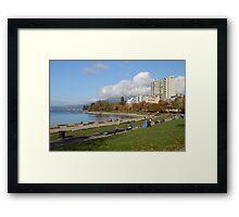 English Beach, Vancouver City, Canada  Framed Print