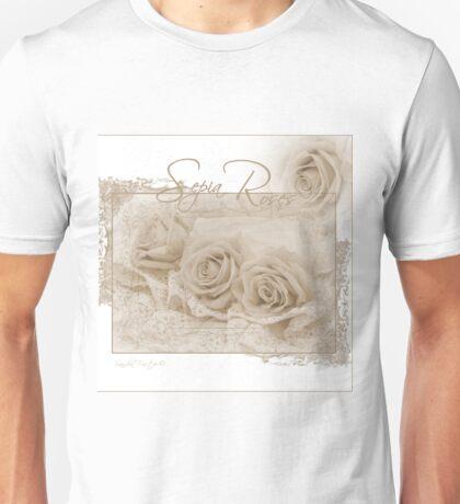 Three Sepia Roses  Unisex T-Shirt