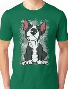 Cheeky English Bull Terrier Black & White Unisex T-Shirt