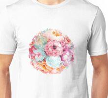 Spring Bouquet Watercolor Flowers Art Unisex T-Shirt