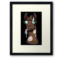 Goofy Llama Framed Print