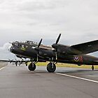 Two Lancaster Bombers at Biggin Hill Airport  by Keith Larby