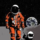 Astronaut walking his dog on the moon by monsterplanet
