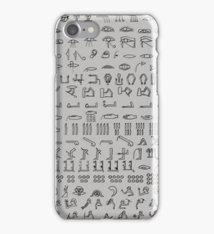 Egyptian Body Hieroglyphs - custom colours available iPhone Case/Skin