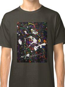 black multicolor splat Classic T-Shirt