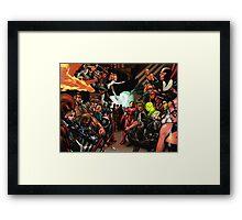 The Avengers Civil war Framed Print