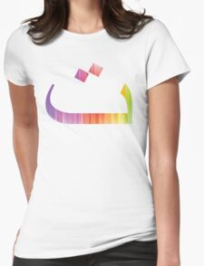 Arabic Letter-Teh Womens Fitted T-Shirt