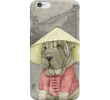Shar Pei on The Great Wall iPhone Case/Skin