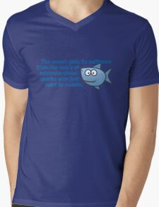 The ocean gets its saltiness from the tears of misunderstood sharks who just want to cuddle. Mens V-Neck T-Shirt