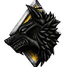 Viking Wolf Head by simonbreeze