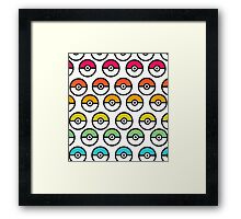 Rainbow Pokeball Framed Print