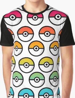 Rainbow Pokeball Graphic T-Shirt