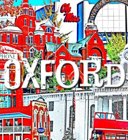 Oxford Square Collage Sticker
