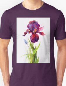 watercolor iris Unisex T-Shirt