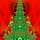 Christmas Tree Fractal by Sharon Woerner