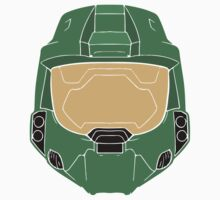 Stencilled Master Chief One Piece - Short Sleeve