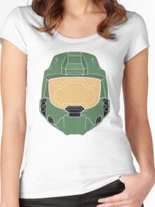Stencilled Master Chief Women's Fitted Scoop T-Shirt