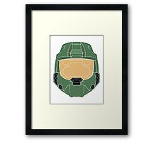 Stencilled Master Chief Framed Print