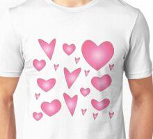 Hearts - Pink Unisex T-Shirt