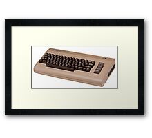 Commodore 64 - C64 - Vintage Home Computer - 8 Bit Classic Framed Print