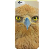 Tawny Eagle - Focus Intensity - African Wild Bird Background iPhone Case/Skin
