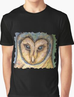 Majestic Owl Oil Pastel Graphic T-Shirt