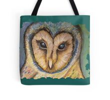 Majestic Owl Oil Pastel Tote Bag