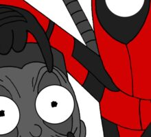 Deadpool and Colossus Sticker
