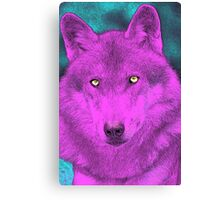 Dyed Wolf Canvas Print