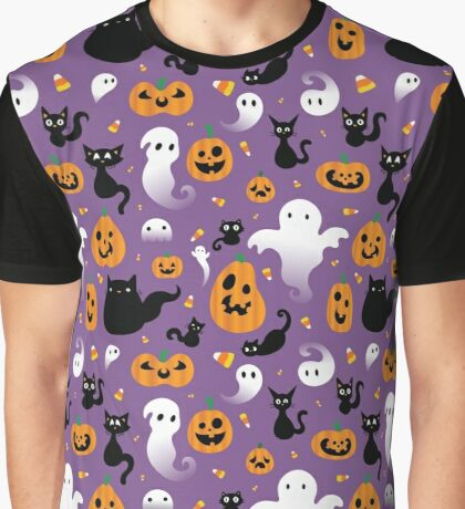 Spooky Halloween Graphic T-Shirt