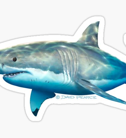 Neptune White Sticker