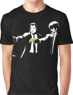 Banksy - Pulp Fiction Banana Guns Graphic T-Shirt