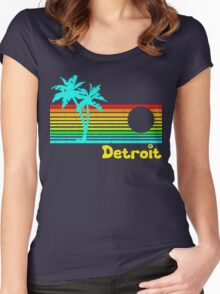Tropical Detroit (funny vintage design) Women's Fitted Scoop T-Shirt