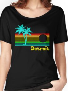 Tropical Detroit (funny vintage design) Women's Relaxed Fit T-Shirt
