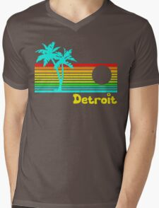 Tropical Detroit (funny vintage design) Mens V-Neck T-Shirt
