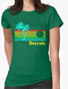 Tropical Detroit (funny vintage design) Womens Fitted T-Shirt