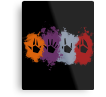 Prime Beams Splatter (Transparent Symbols) Metal Print
