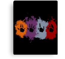 Prime Beams Splatter (Transparent Symbols) Canvas Print